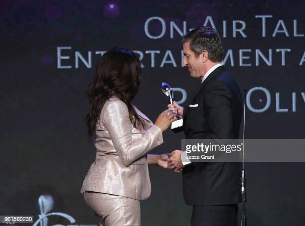 Pam Oliver accepts award onstage at the 43rd Annual Gracie Awards at the Beverly Wilshire Four Seasons Hotel on May 22 2018 in Beverly Hills...