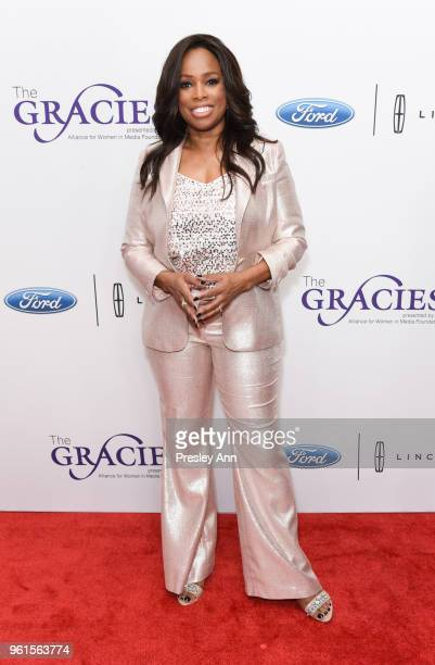 Pam Oliver arrives at the 43rd Annual Gracie Awards at the Beverly Wilshire Four SeasonsHotel on May 22 2018 in Beverly Hills California