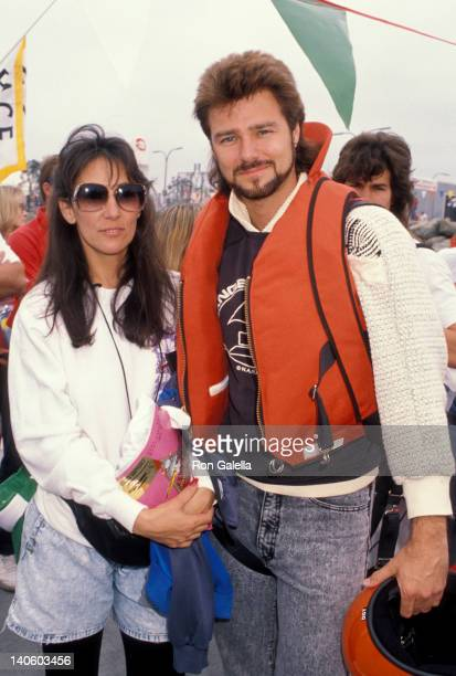 Pam Serpe and Greg Evigan at the 1990 Long Beach OBT Race Long Beach Long Beach
