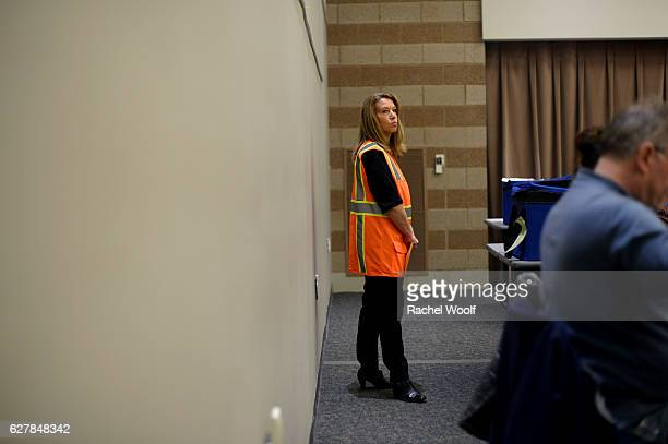 Pam Smith City Clerk in Farmington Hills watches over volunteers and city officials as they recount presidential ballots at the Oakland Schools...