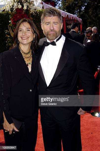 Pam Van Sant and Treat Williams during The 56th Annual Primetime Emmy Awards Arrivals at The Shrine Auditorium in Los Angeles California United States