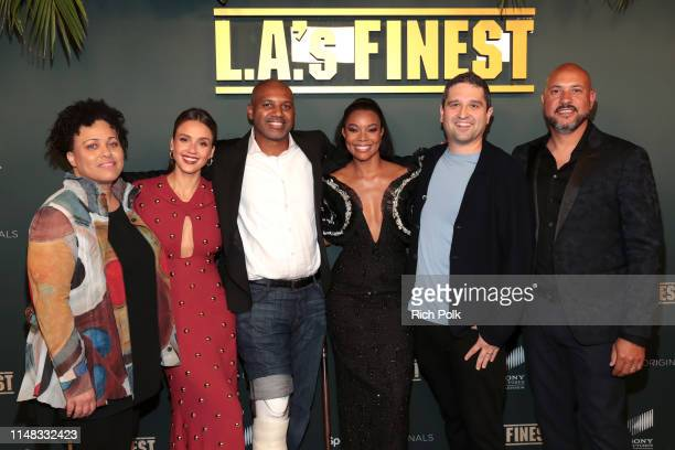 Pam Veasey Jessica Alba Brandon Sonnier Gabrielle Union Brandon Margolis and Anton Cropper attend Spectrum Originals and Sony Pictures Television...