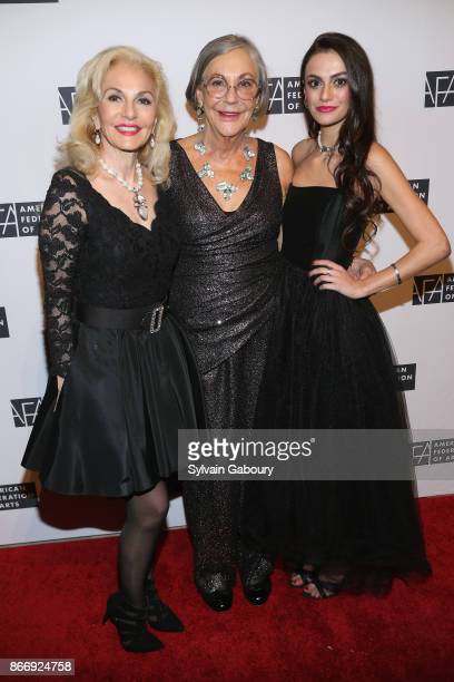 Pamala Wright Alice Walton and Mackenzie Wright attend the American Federation of Arts 2017 Gala and Cultural Leadership Awards at The Metropolitan...
