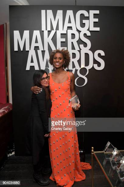 Pamela Adlon and Issa Rae attend the Marie Claire's Image Makers Awards 2018 on January 11 2018 in West Hollywood California