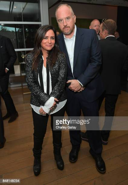 Pamela Adlon and Louis CK attend FX Networks celebration of their Emmy nominees in partnership with Vanity Fair at Craft on September 16 2017 in...