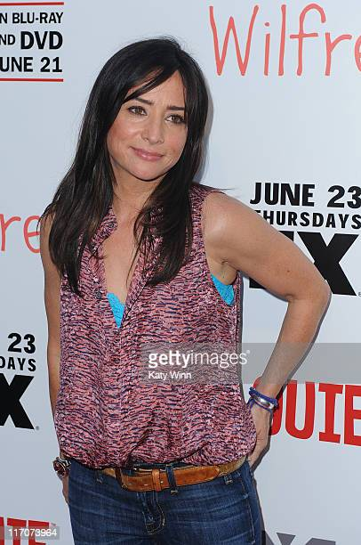 Pamela Adlon arrives at the premiere party for FX's Wilfred and Louie on June 20 2011 in Los Angeles California