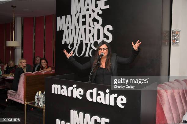 Pamela Adlon attends the Marie Claire's Image Makers Awards 2018 on January 11 2018 in West Hollywood California