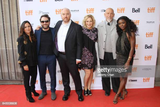 Pamela Adlon Charlie Day Louis CK Edie Falco John Malkovich and Ebonee Noel attend the 'I Love You Daddy' premiere during the 2017 Toronto...