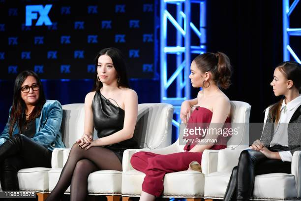 Pamela Adlon Mikey Madison Hannah Alligood and Olivia Edward of 'Better Things' speak during the FX segment of the 2020 Winter TCA Tour at The...
