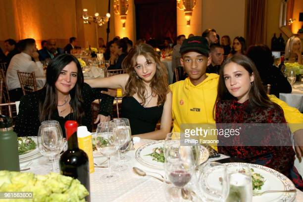 Pamela Adlon Odessa Adlon Jaden Smith and Gideon Adlon attend the 28th Annual Environmental Media Awards at Montage Beverly Hills on May 22 2018 in...