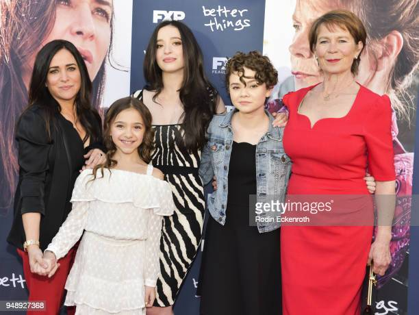 Pamela Adlon Olivia Edward Mikey Madison Hannah Alligood and Celia Imrie attend the FYC event for FX's 'Better Things' at Saban Media Center on April...