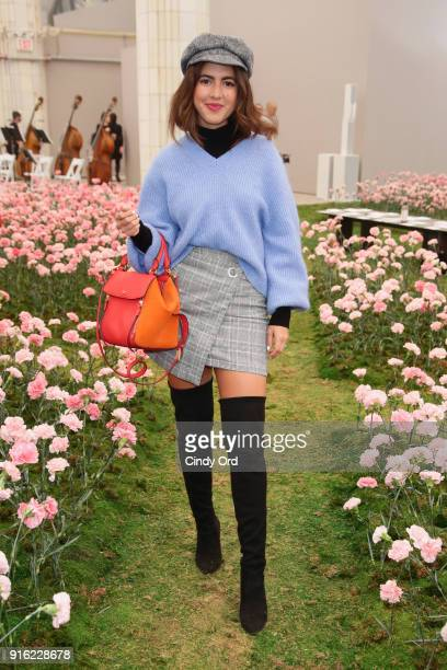 Pamela Allier attends the Tory Burch Fall Winter 2018 Fashion Show during New York Fashion Week at Bridge Market on February 9 2018 in New York City