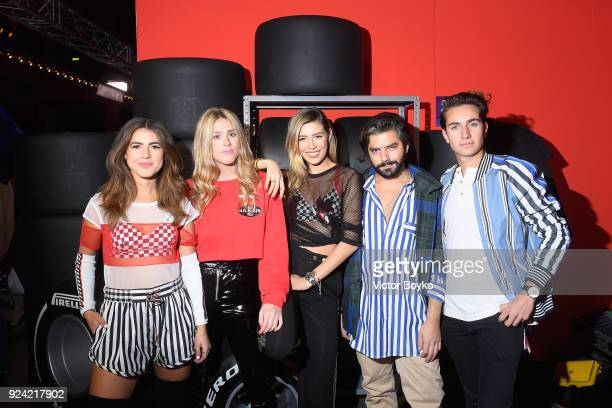 Pamela Allier Fer Medina Michelle Salas Juan Pablo Jim and Andy Zurita attend the Tommy Hilfiger Drive Now show during Milan Fashion Week Fall/Winter...