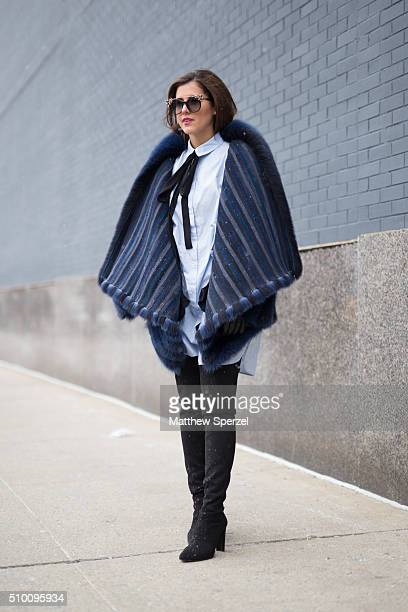 Pamela Allier is seen at Lacoste during New York Fashion Week Women's Fall/Winter 2016 on February 13 2016 in New York City