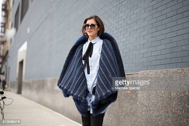 Pamela Allier is seen at Lacoste during New York Fashion Week: Women's Fall/Winter 2016 on February 13, 2016 in New York City.