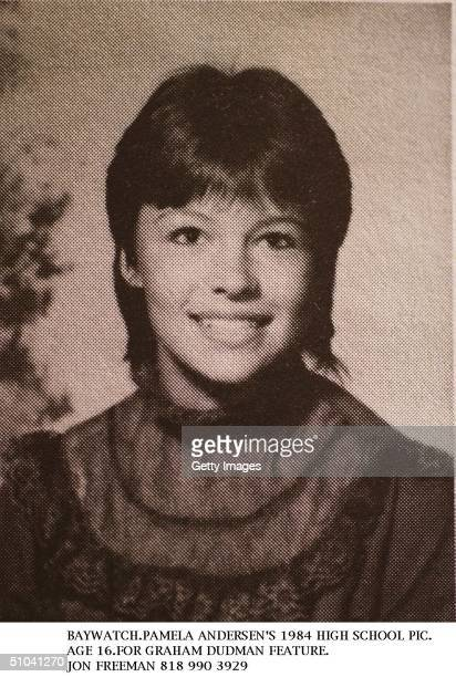Pamela Anderson Age 16 Poses For Her 1984 High School Yearbook Photo In Canada