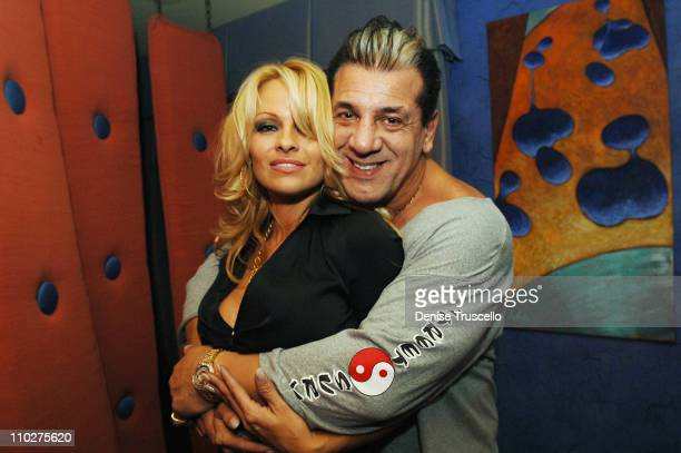 Pamela Anderson and Chuck Zito during Harman Kardon Rolling Stones After Party November 18 2005 at The Real World Suite at The Palms Hotel and Casino...