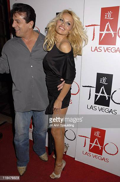 Pamela Anderson and Chuck Zito during Pamela Anderson Host New Year's Eve 2007 at Tao Night Club in Las Vegas at Tao in Las Vegas Nevada United States
