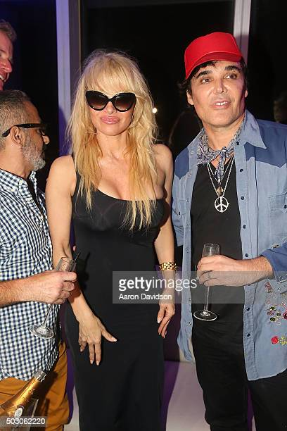 Pamela Anderson and David LaChapelle attend New Years Eve 2015 hosted by Pamela Anderson at FIFTY Ultra Lounge at Viceroy Hotel Spa on December 31...