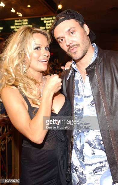 Pamela Anderson and David LaChapelle during KA Cirque Du Soleil Premiere Red Carpet at MGM Grand Hotel and Casino Resort in Las Vegas Nevada United...
