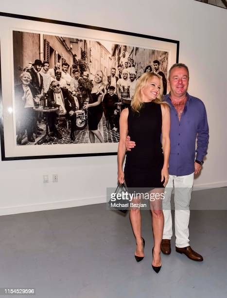 Pamela Anderson and David Yarrow attend Maddox Gallery Los Angeles Presents Pamela Anderson by David Yarrow at Maddox Gallery on June 07 2019 in Los...