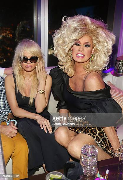 Pamela Anderson and Elaine Lancaster attend New Years Eve 2015 hosted by Pamela Anderson at FIFTY Ultra Lounge at Viceroy Hotel Spa on December 31...
