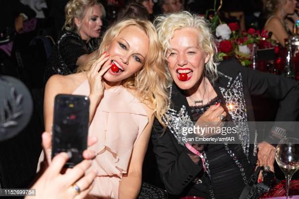 Pamela Anderson and Ellen Von Unwerth attend the amfAR Cannes Gala 2019 at Hotel du Cap-Eden-Roc on May 23, 2019 in Cap d'Antibes, France.