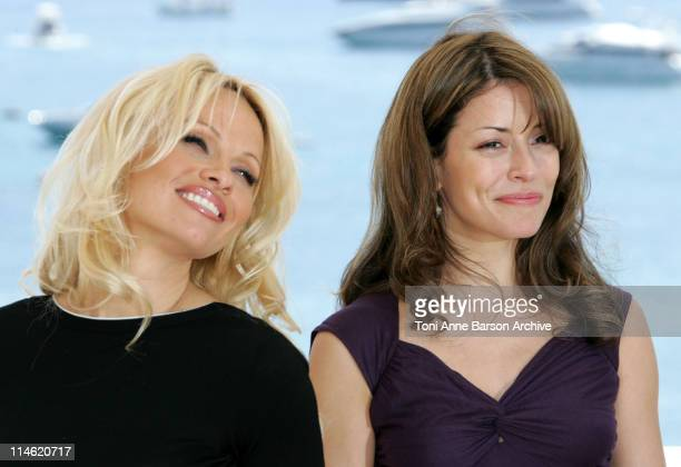"""Pamela Anderson and Emmanuelle Vaugier during 2007 Cannes Film Festival - """"Blonde and Blonder"""" Photocall at Hilton Hotel in Cannes, France."""