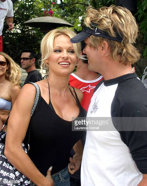 Pamela Anderson and fellow Baywatch actor David Chockachi