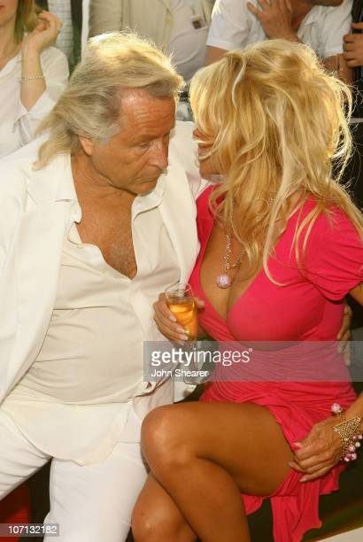 Pamela Anderson and Guest during 2007 Cannes Film Festival 'Blonde and Blonder' Party on the Budweiser Select Yacht at Budweiser Select Yacht in...