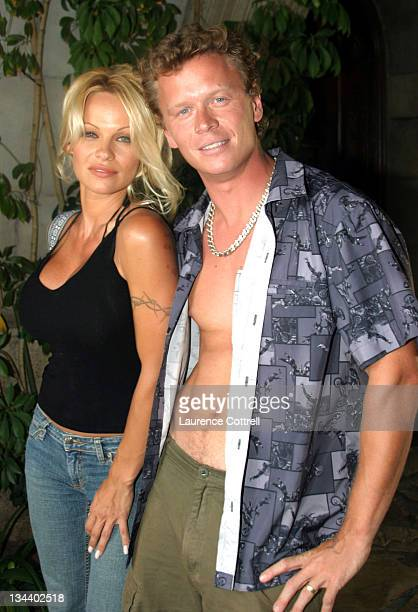 """Pamela Anderson and her brother Jerry during """"A Day at The Mansion"""" – sponsored by Red Bull Energy Drink and Playboy to celebrate the XGames in Los..."""