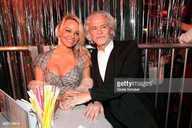 Pamela Anderson and Hermann Buehlbecker CEO of Lambertz during the Lambertz Monday Night 2017 at Alter Wartesaal on January 30 2017 in Cologne Germany