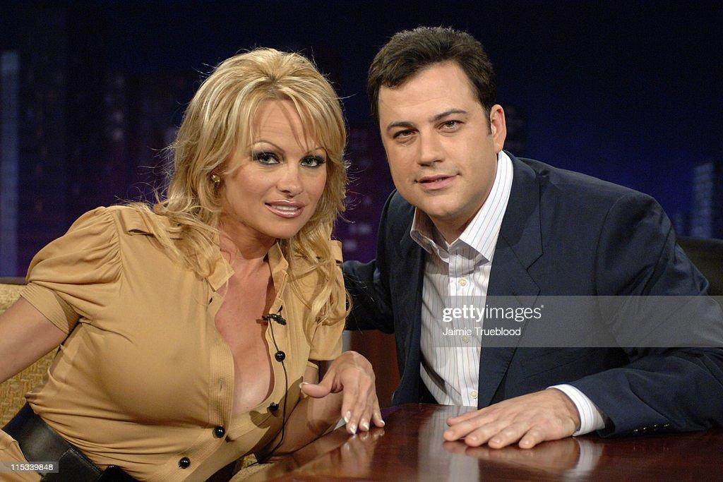"Pamela Anderson and Tom Kenny Visit ""Jimmy Kimmel Live"" - May 9, 2005"