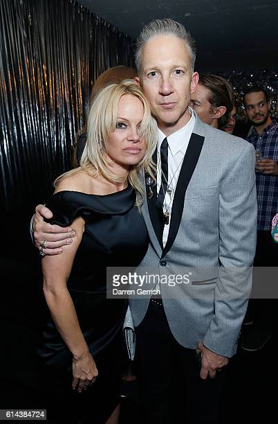 Pamela Anderson and Jefferson Hack attend Dazed magazine's 25th birthday party in partnership with Calvin Klein at The Store Studios on October 13...