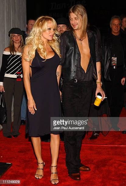 Pamela Anderson and Kid Rock during STUFF Magazine and Blender Host Kid Rock's After Party For The 2003 American Music Awards Red Carpet/Inside at...