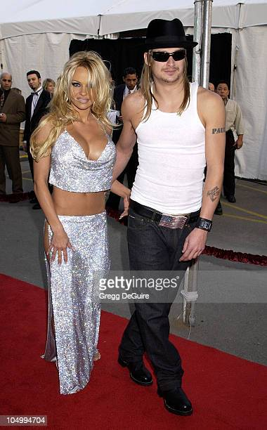 Pamela Anderson and Kid Rock during The 29th Annual American Music Awards Arrivals at The Shrine Auditorium in Los Angeles California United States