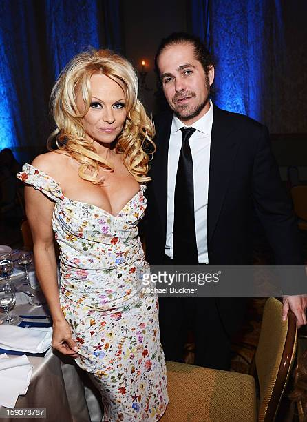 Pamela Anderson and musician Citizen Cope attend the 2nd Annual Sean Penn and Friends Help Haiti Home Gala benefiting J/P HRO presented by Giorgio...