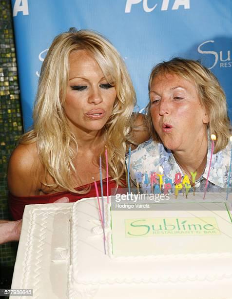 Pamela Anderson and PETA President Ingrid E Newkirk