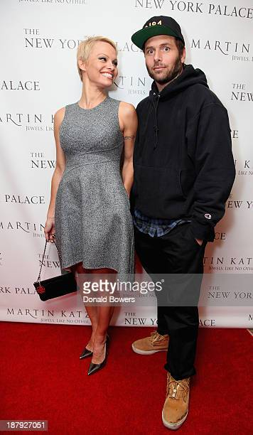 Pamela Anderson and Rick Salomon attend The Martin Katz Jewel Suite Debuts At The New York Palace Hotel on November 13 2013 in New York City