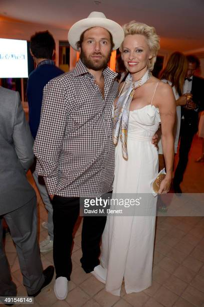 Pamela Anderson and Rick Salomon attend The Pamela Anderson Foundation launch cohosted by Dame Vivienne Westwood in support of Cool Earth at the...