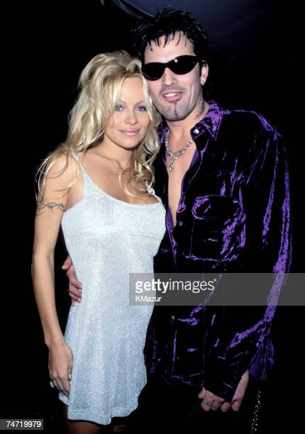Pamela Anderson and Tommy Lee at the American Music Awards 1996 in Various Cities Various States
