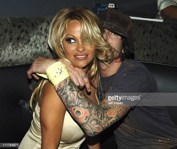 Pamela Anderson and Tommy Lee during Rokbar Hollywood Launch Party Inside at Rokbar in Los Angeles California United States