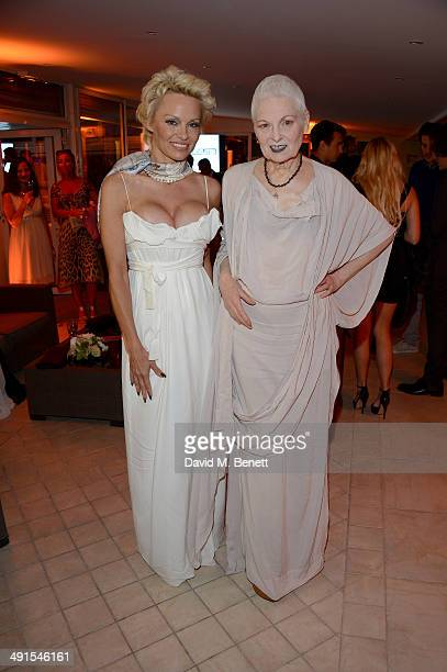 Pamela Anderson and Vivienne Westwood attend The Pamela Anderson Foundation launch cohosted by Dame Vivienne Westwood in support of Cool Earth at the...
