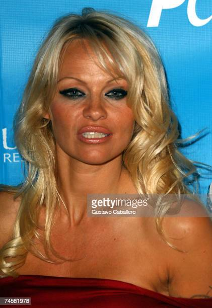Pamela Anderson arrives at Sublime restaurant where PETA hosted her 40th birthday June 12 2007 in Ft Lauderdale Florida