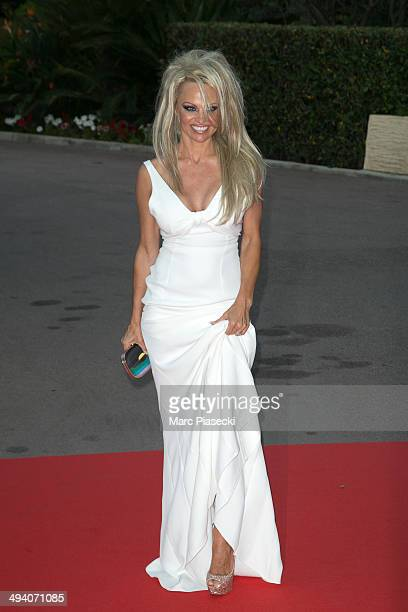 Pamela Anderson arrives to attend the 'World Music Awards 2014' ceremony at Sporting Monte-Carlo on May 27, 2014 in Monte-Carlo, Monaco.