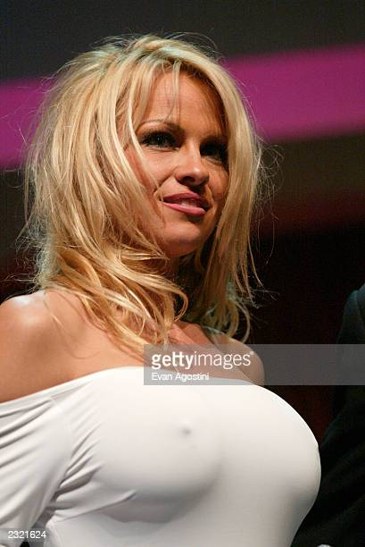 Pamela Anderson at the New TNN 2002 Upfront at Exit in New York City April 17 2002 Photo Evan Agostini/ImageDirect