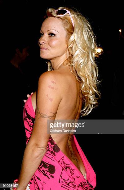 Pamela Anderson attends an A Muse photo call during day three of Air New Zealand Fashion Week 2009 at the Westpac Tent Viaduct Harbour on September...