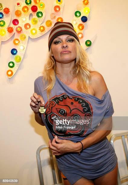 Pamela Anderson attends Art Basel Miami Beach on December 6, 2008 in Miami Beach, Florida.