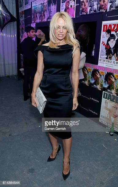 Pamela Anderson Attends Dazed Magazines Th Birthday Party In Partnership With Calvin Klein At The Store