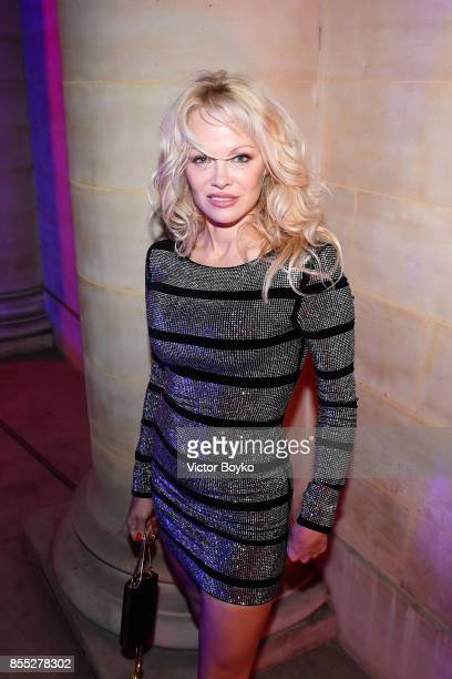 Pamela Anderson attends L'Oreal Paris X Balmain Party as part of the Paris Fashion Week Womenswear Spring/Summer 2018 on September 28 2017 in Paris...